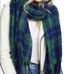 Free People Plaid Blanket Scarf